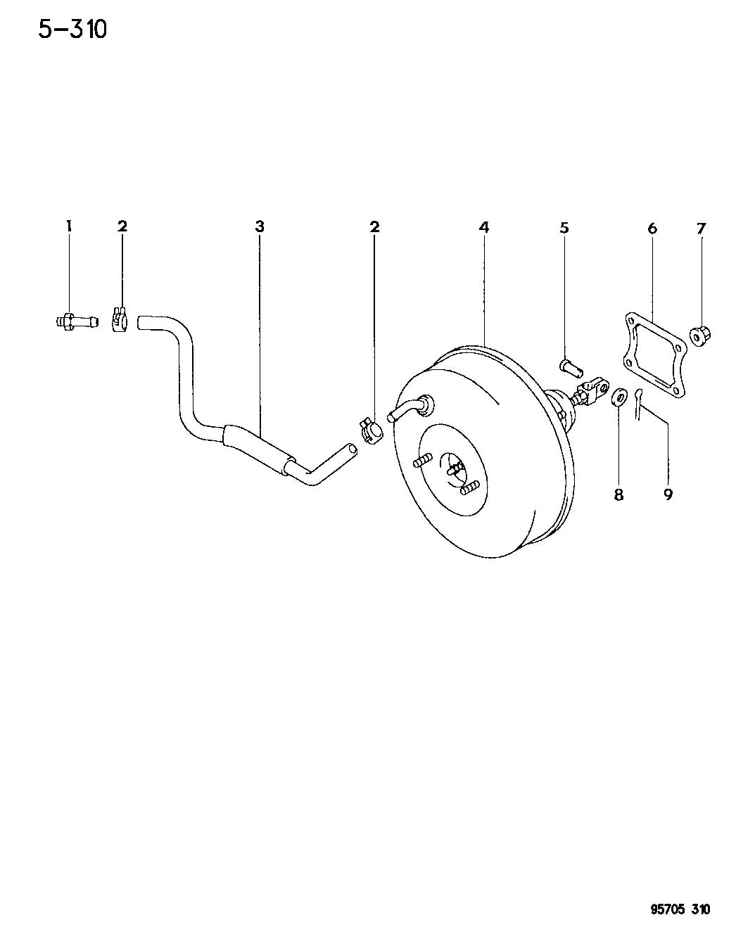 Diagram BOOSTER, POWER BRAKE LE 21,41-COLT, SUMMIT for your Dodge