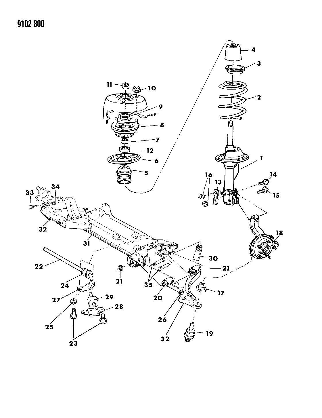 35 Pt Cruiser Front Suspension Diagram