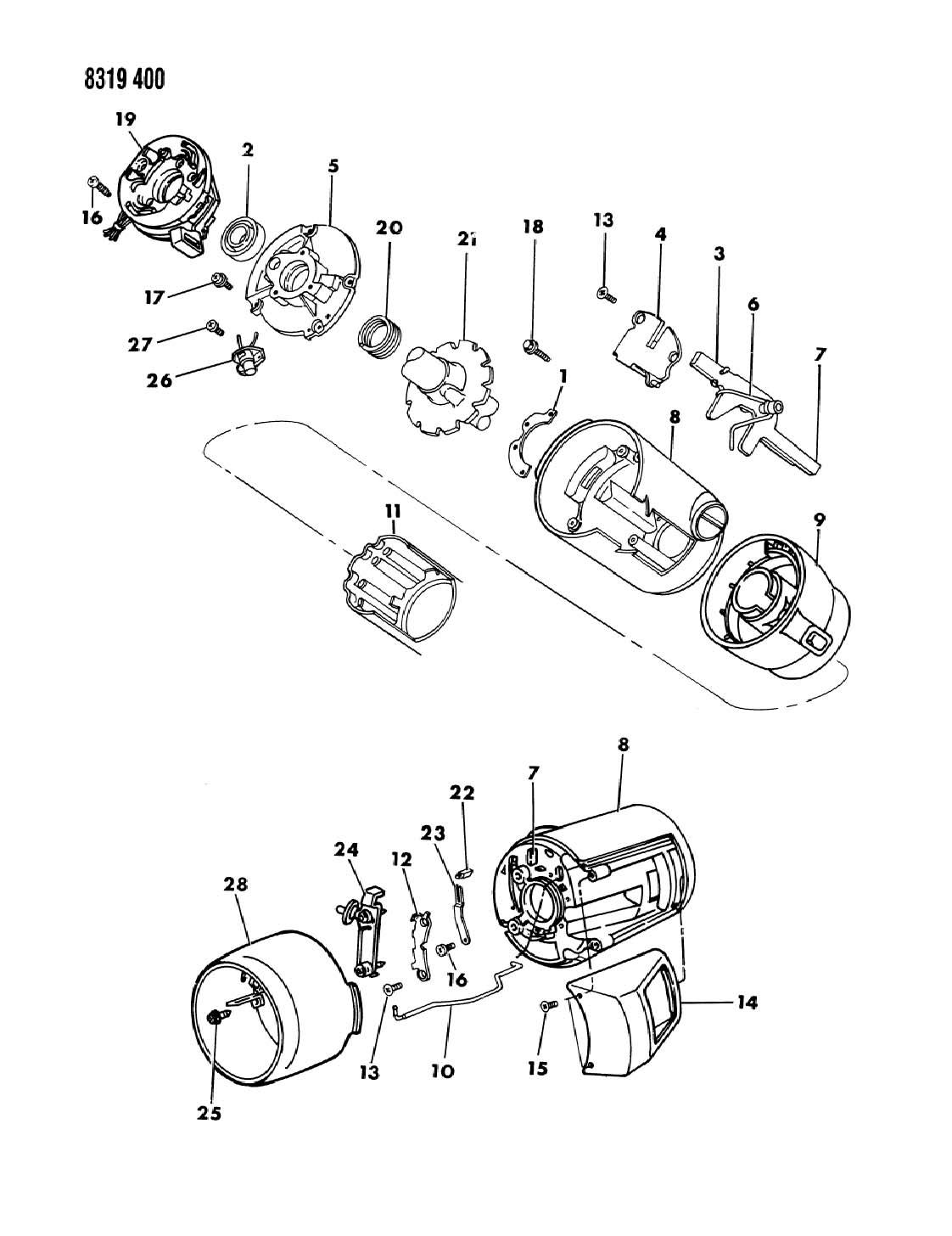 dodge dakota tilt steering parts diagram  dodge  auto
