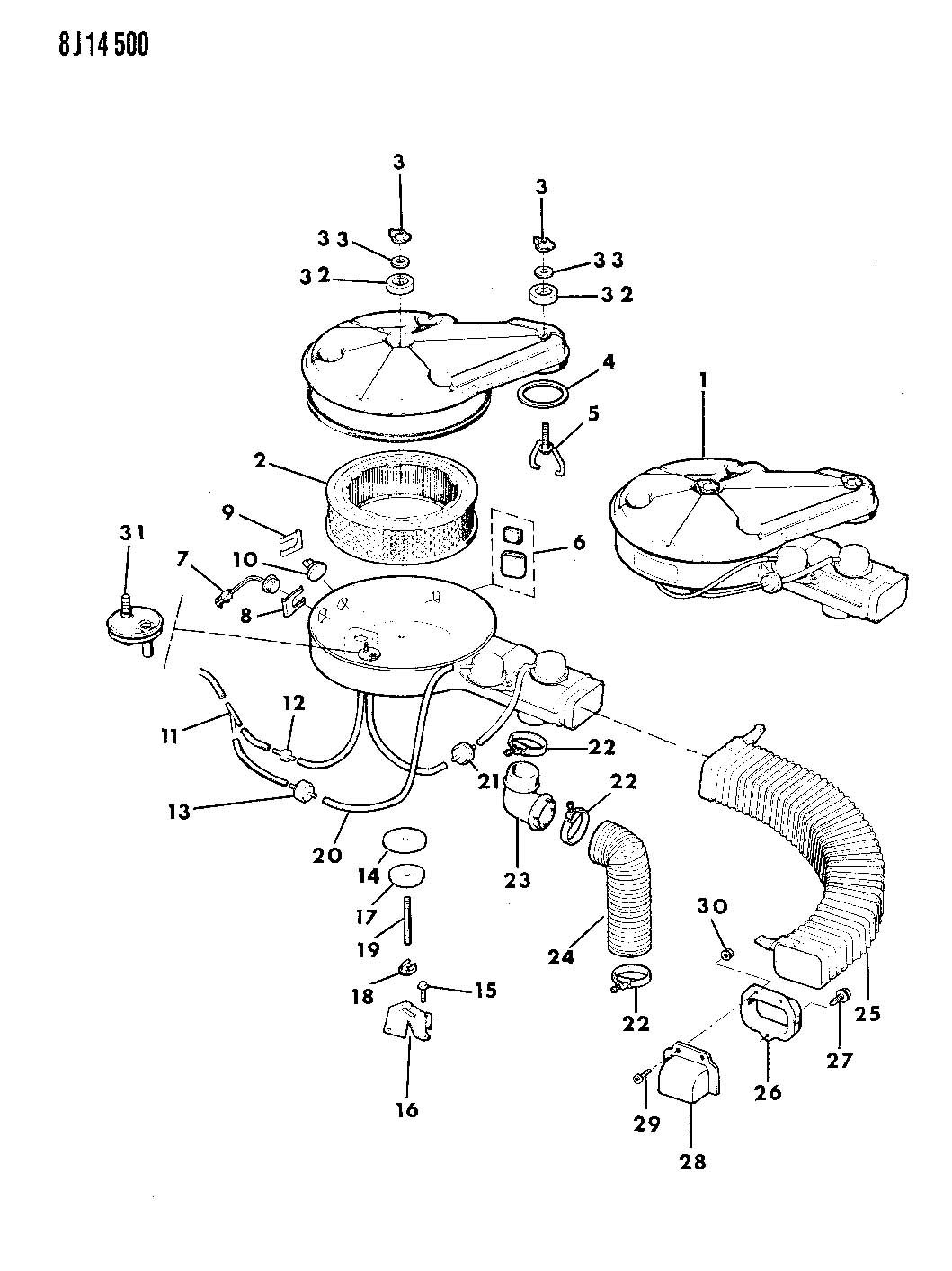 88 yj air cleaner vacuum hose diagram