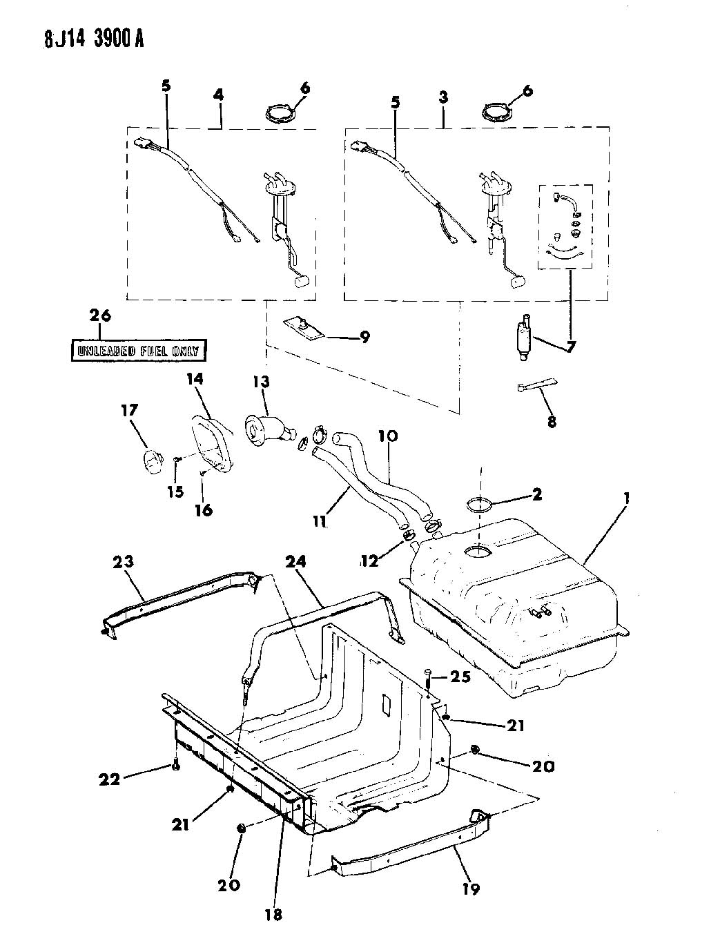 1995 Jeep Wrangler Soft Top Parts Diagram Wiring Diagrams 1983 Fiat 124 Electrical Schematic Yj Gas Tank