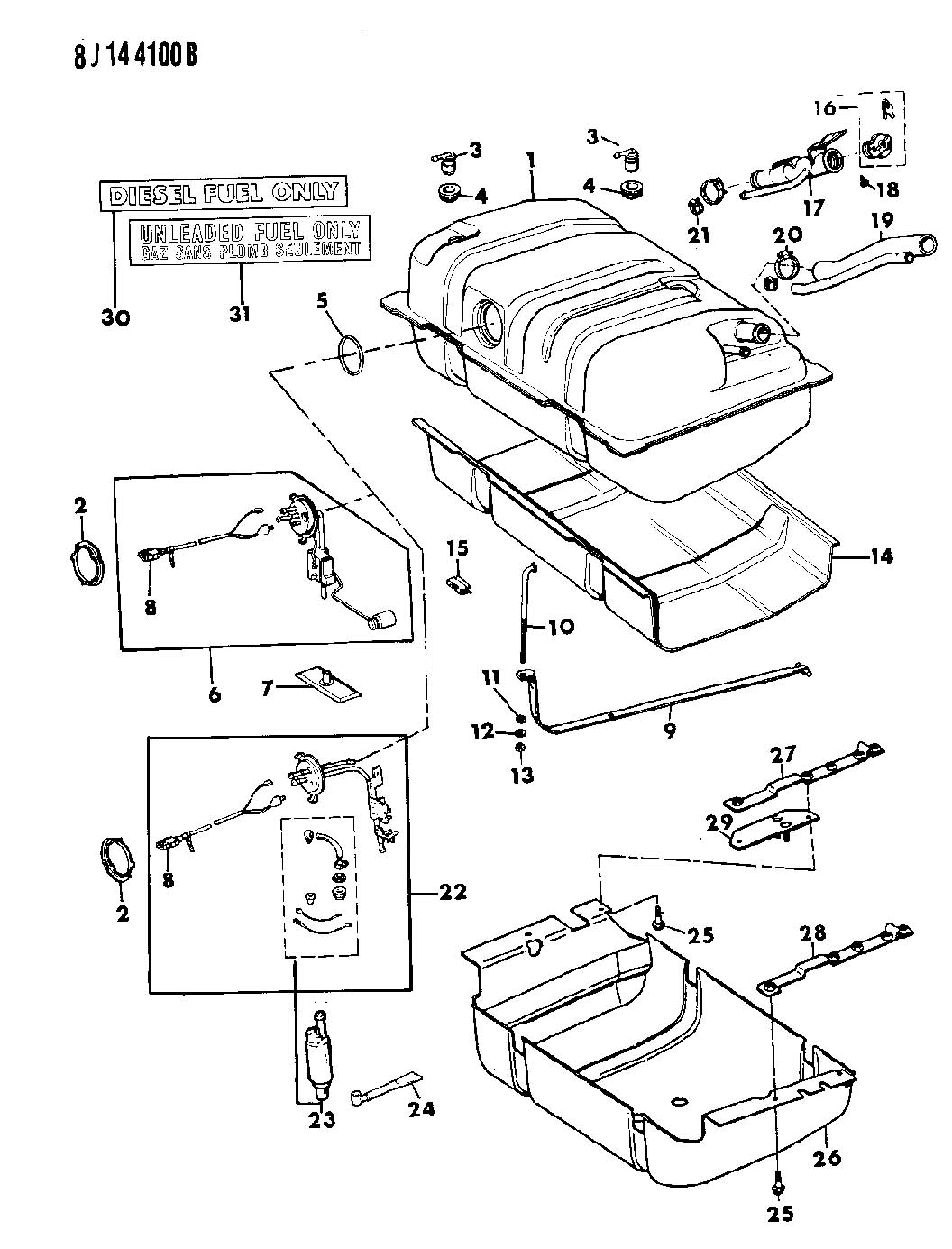 1988 Jeep Wrangler O Ring  Sending Unit