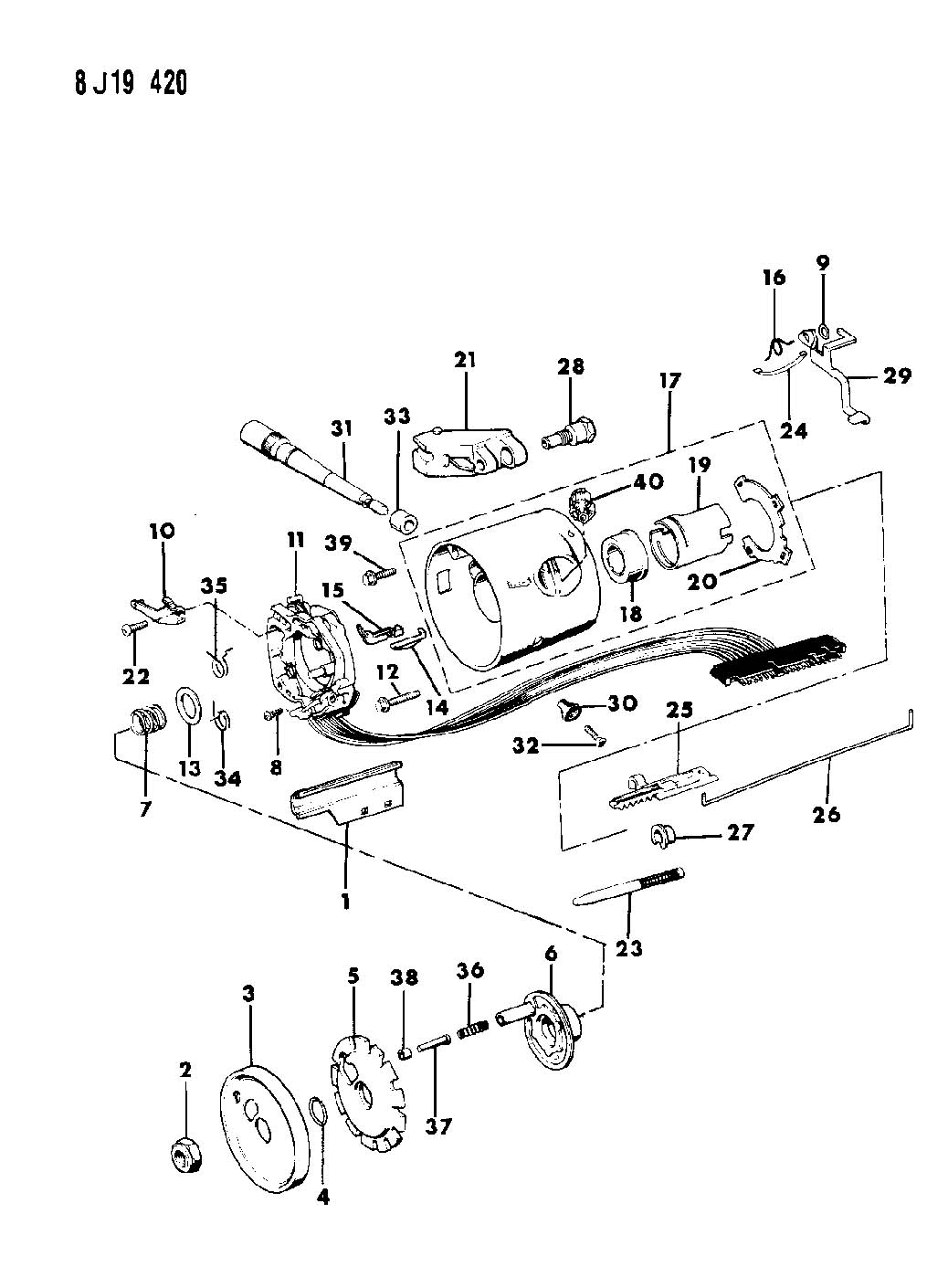 87 Jeep Wrangler Steering Column Diagram Wiring Schematic