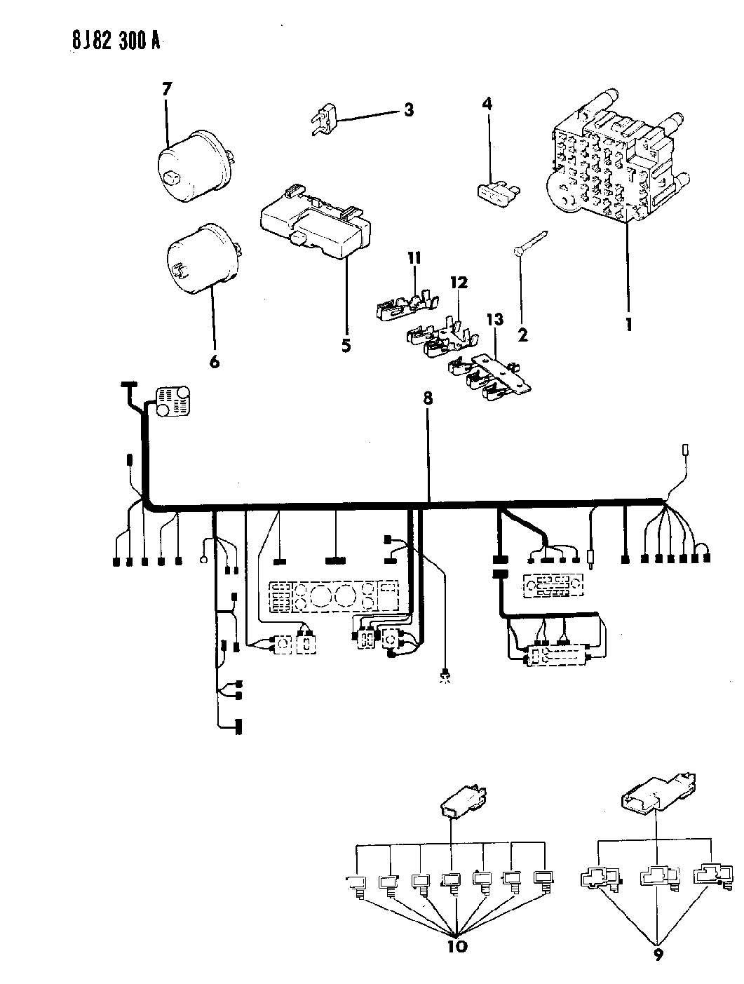 94 Jeep Wrangler Wiring Diagram Lights Trusted Chrysler Parts Diagrams 1990 Harness Rh Dafpods Co 1987 1989