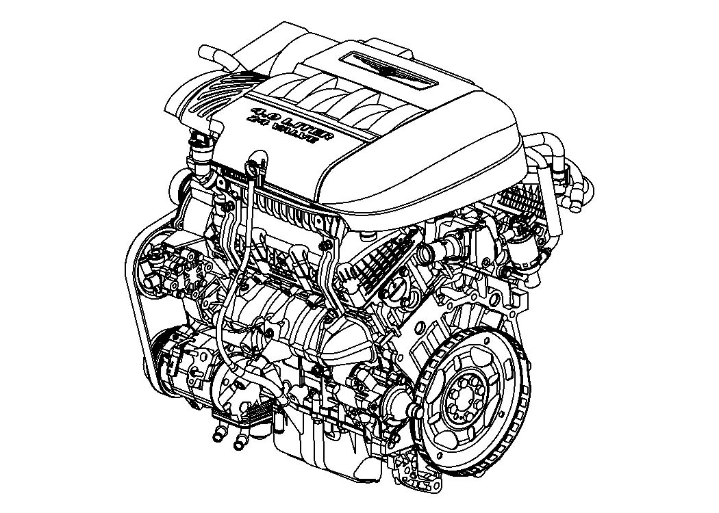 Diagram 4.0L Gas; Engine for your Dodge