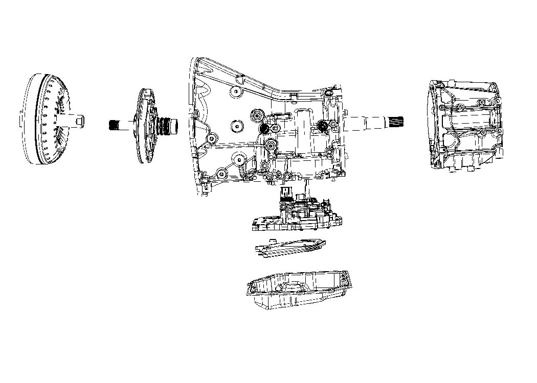 Diagram 42RLE; 4-Speed; Automatic Transmission for your Dodge