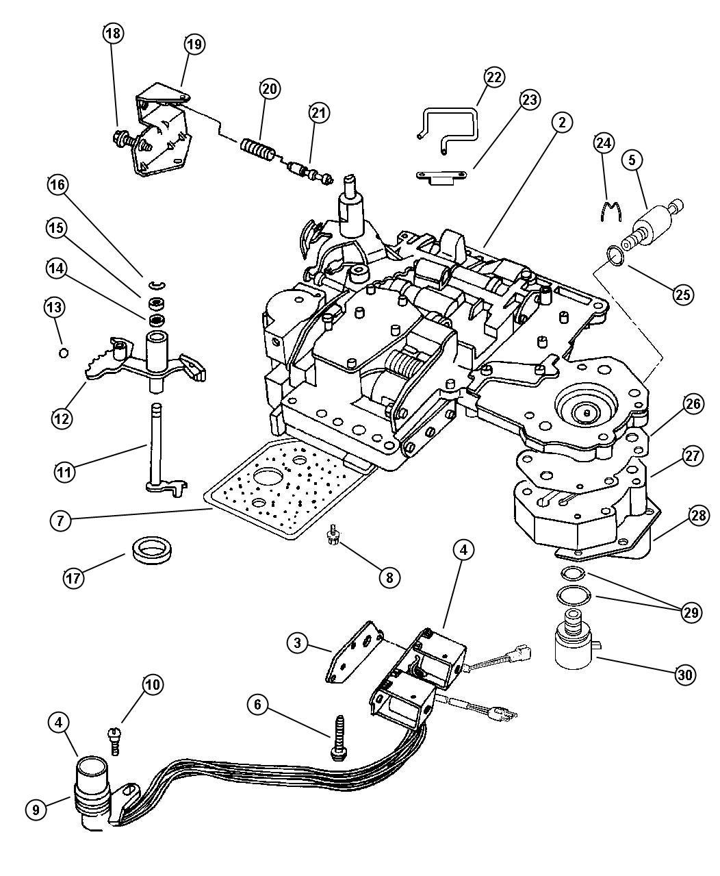 jeep aisin ax15 transmission parts diagram