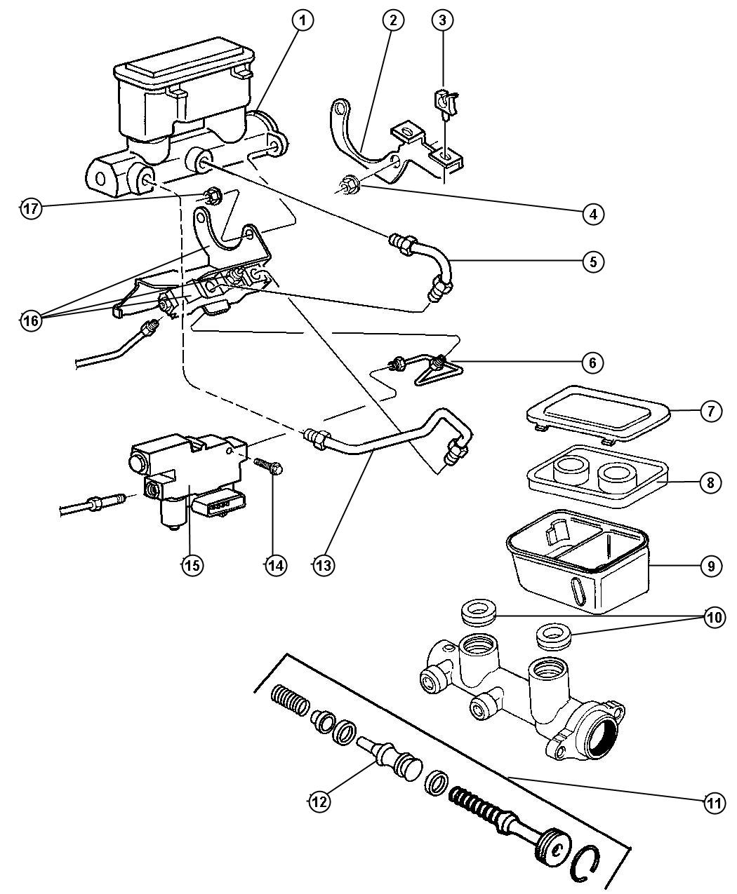 jeep brake proportioning valve diagram
