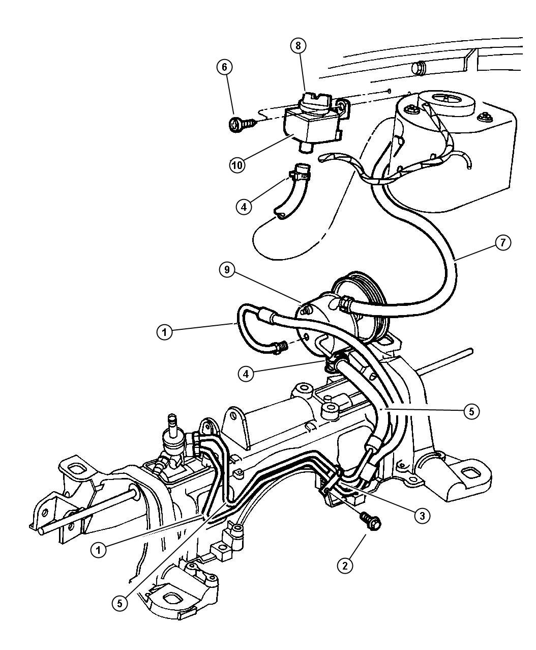 service manual  how to change a powersteering hose 1994 plymouth sundance