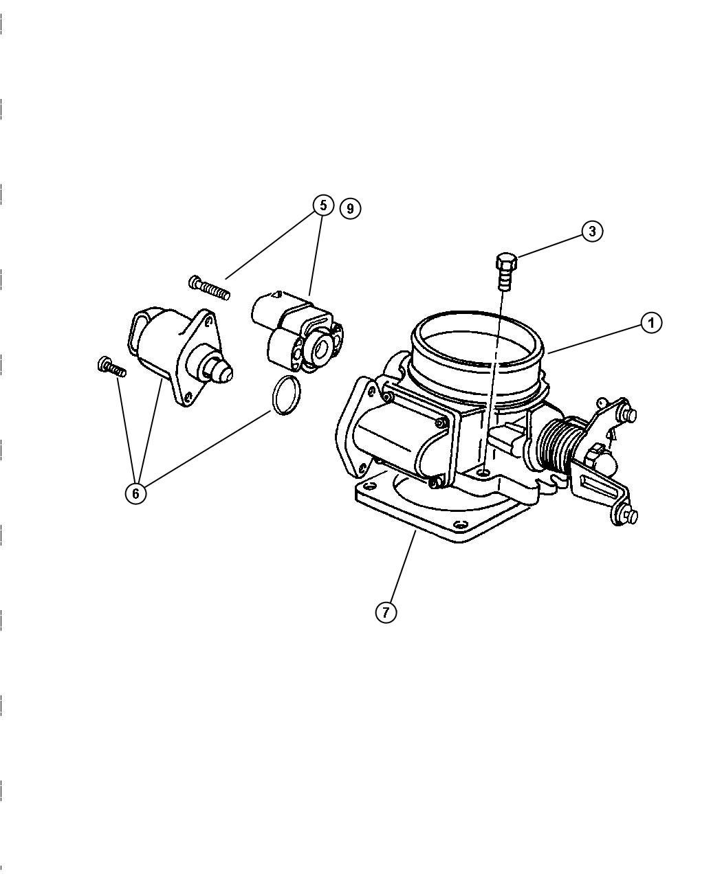 53032023AC  Jeep    Throttle       body    Knockdown  acx   Factory