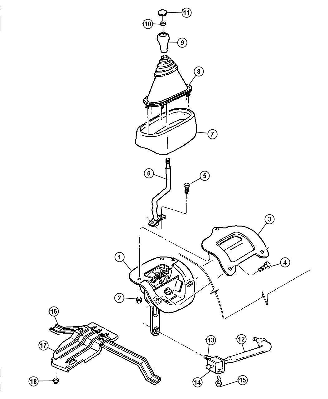 Chrysler Concorde Knob  Gearshift  Body 94  Gear Shift Lever  Gear Shift Lever