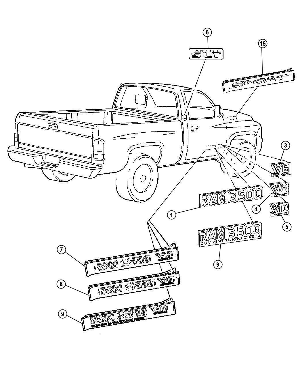parts for dodge ram 1500 daytona