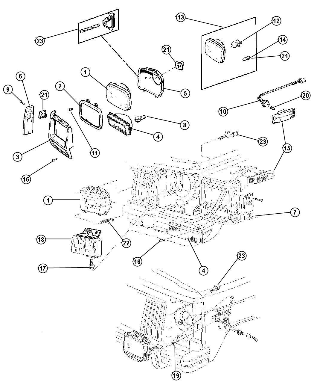 2001 jeep cherokee module  headlamp delay  relay  headlamp delay  trim    o0