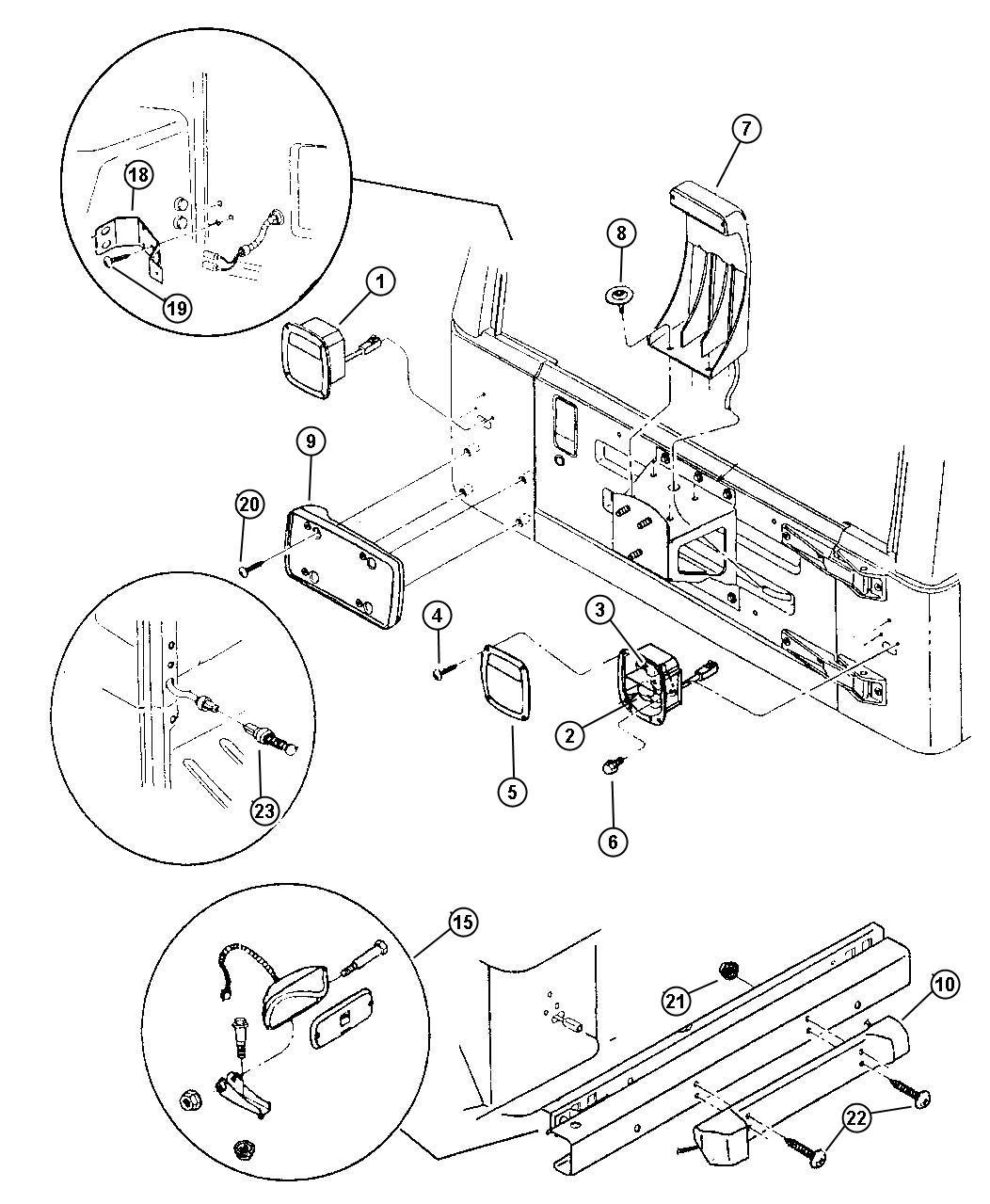 jeep wrangler clamp  contact button  contact cover pn 55217099  chmsl contact button