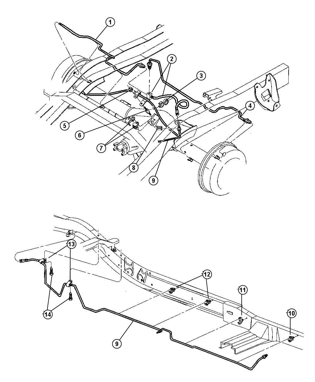 Dodge Factory Brake Lines : Dodge dakota rear brake diagram car interior design