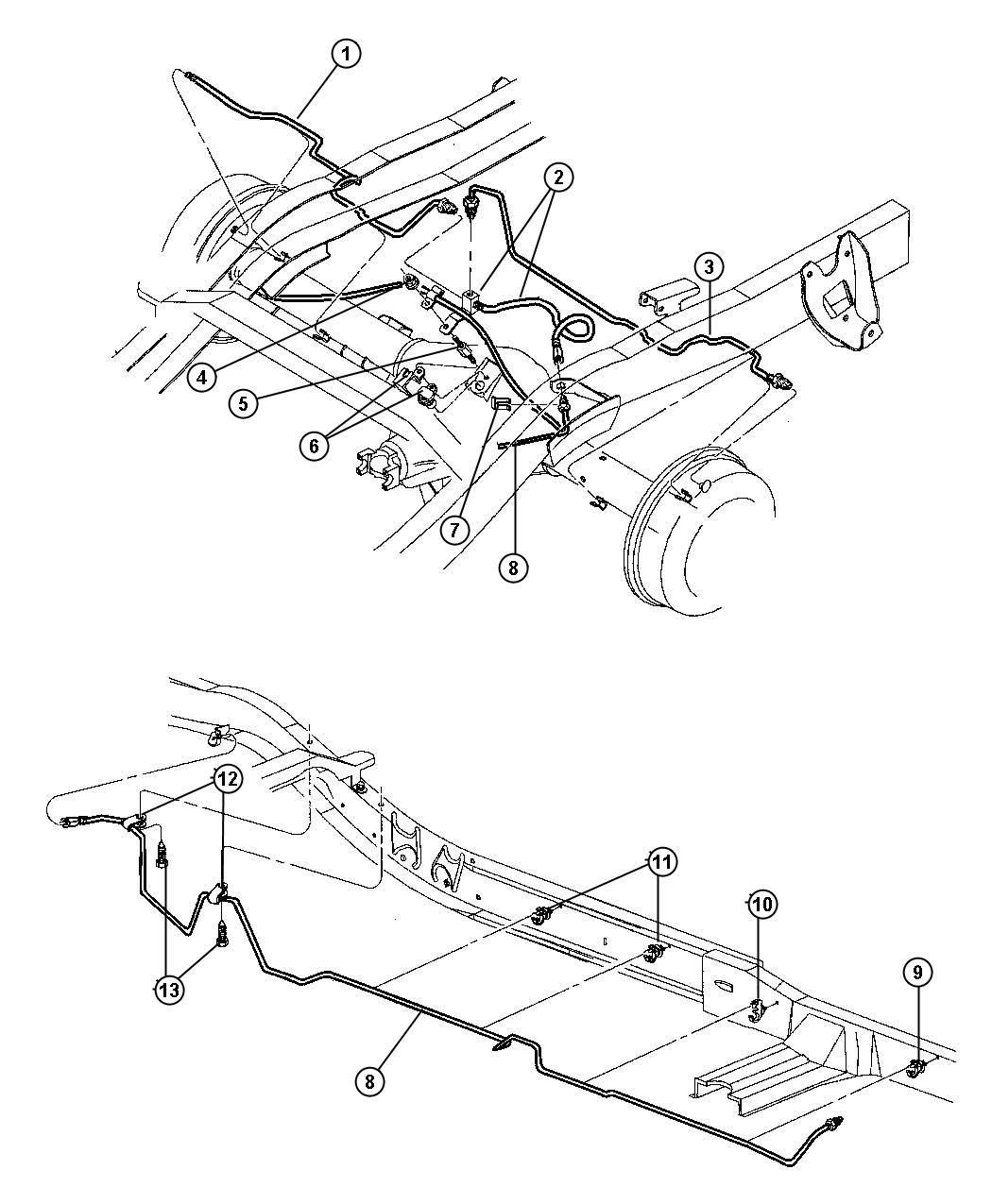 2000 dodge durango tube  brake  right  right rear   axle - rear  corporate 9 25 ld