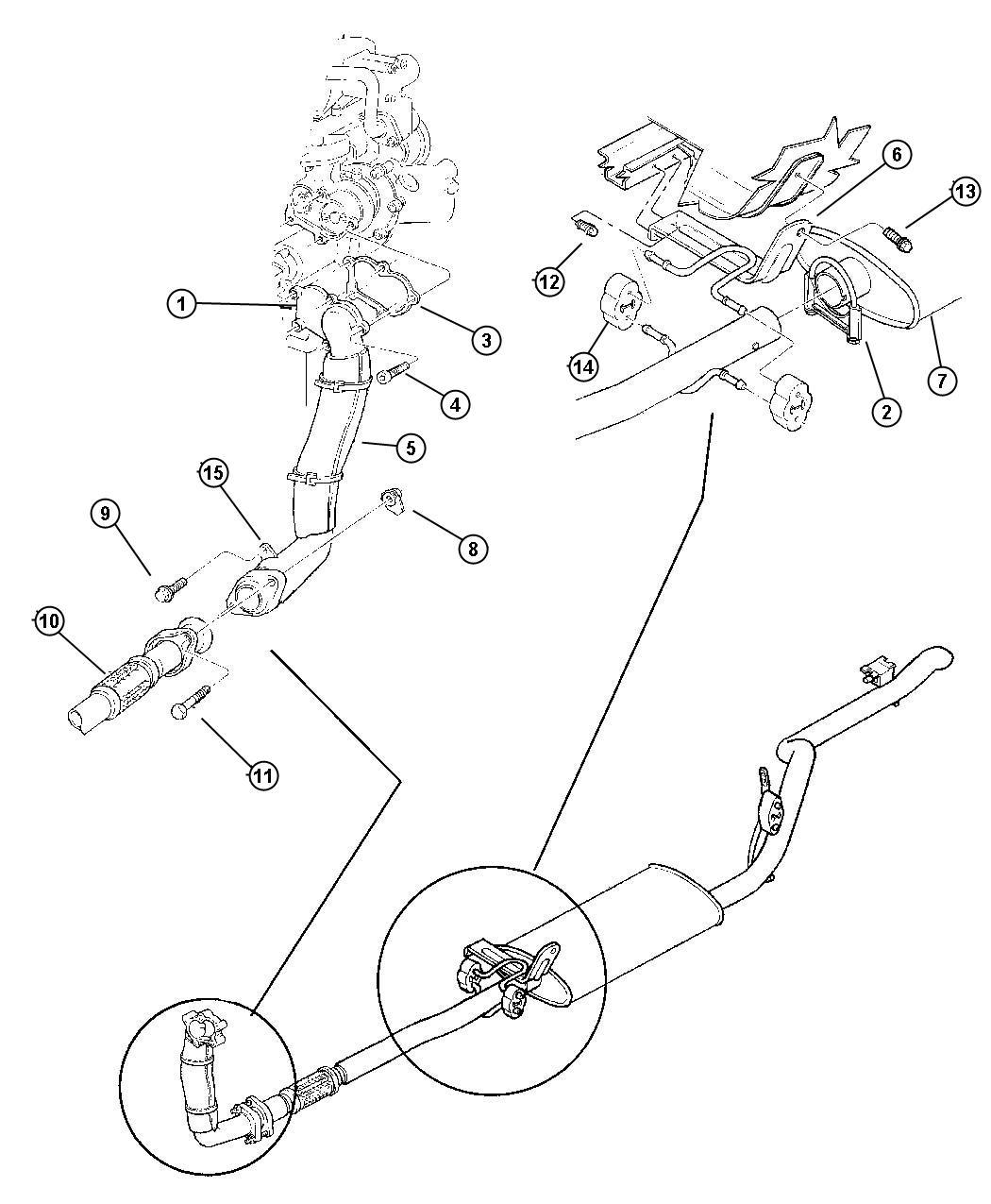 Jeep Cherokee Flange. Exhaust pipe. Hanger, down pipe ...