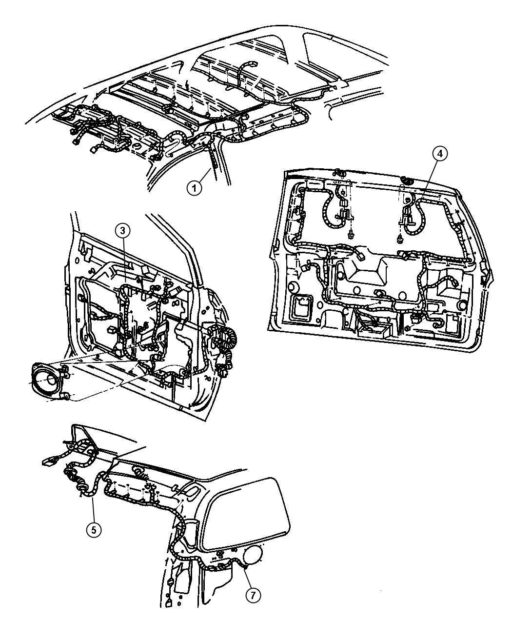 1997 Chrysler Town  U0026 Country Wiring  Power Seat  Trim