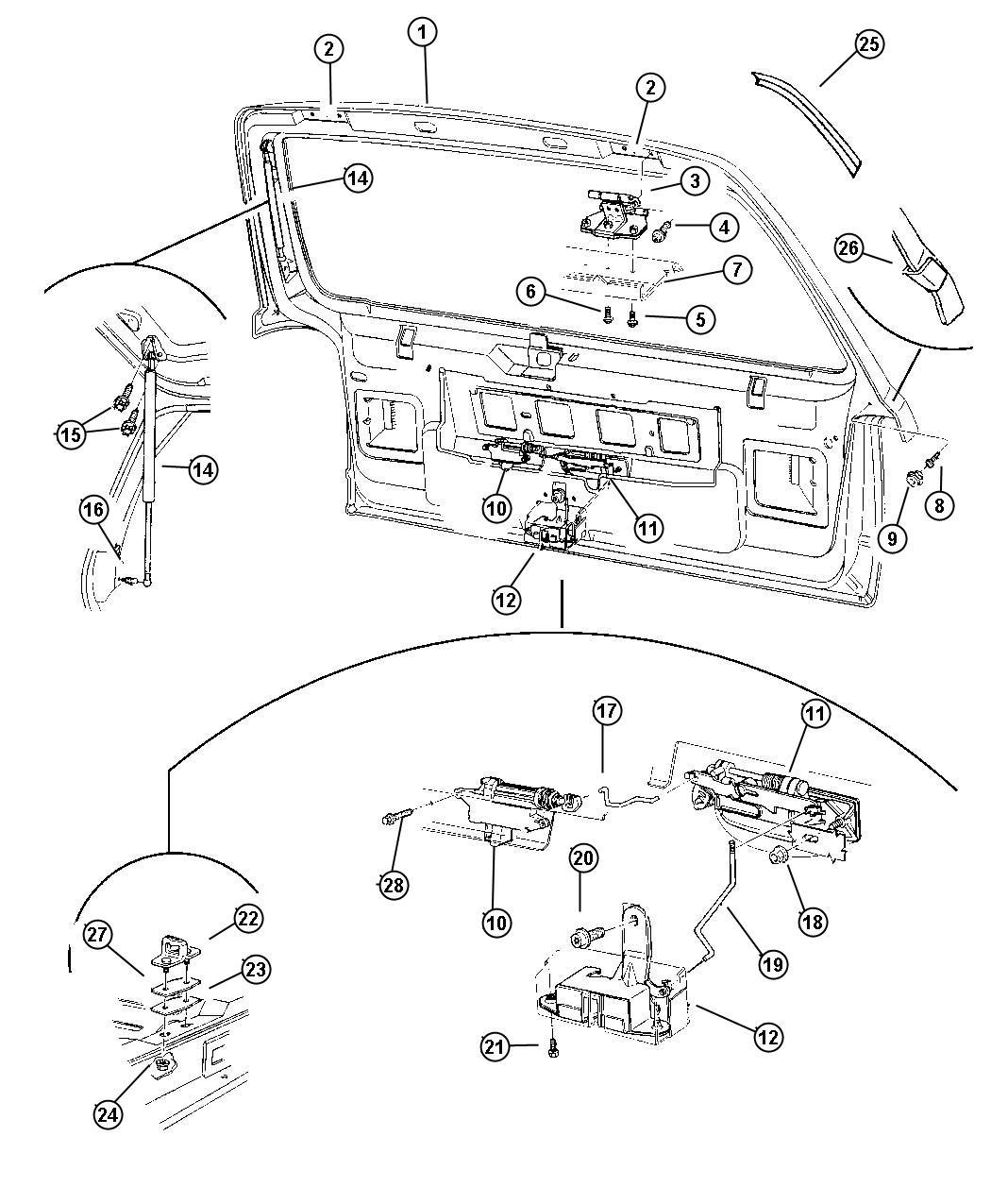 1995 jeep grand cherokee door hinge diagram