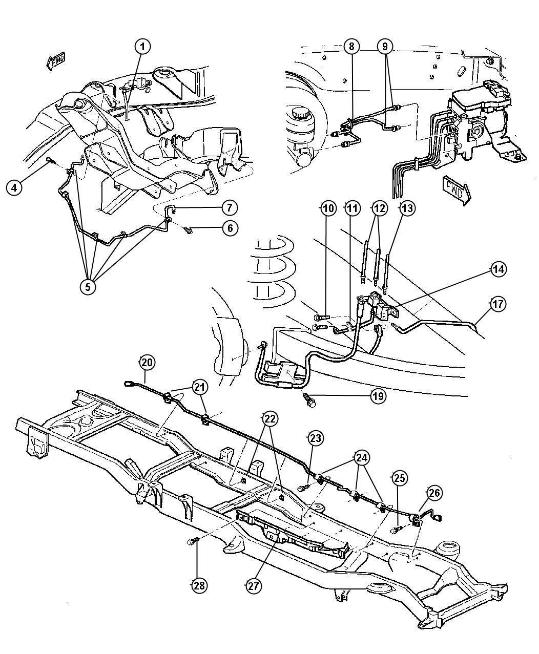 1998 dodge ram 1500 front end diagram