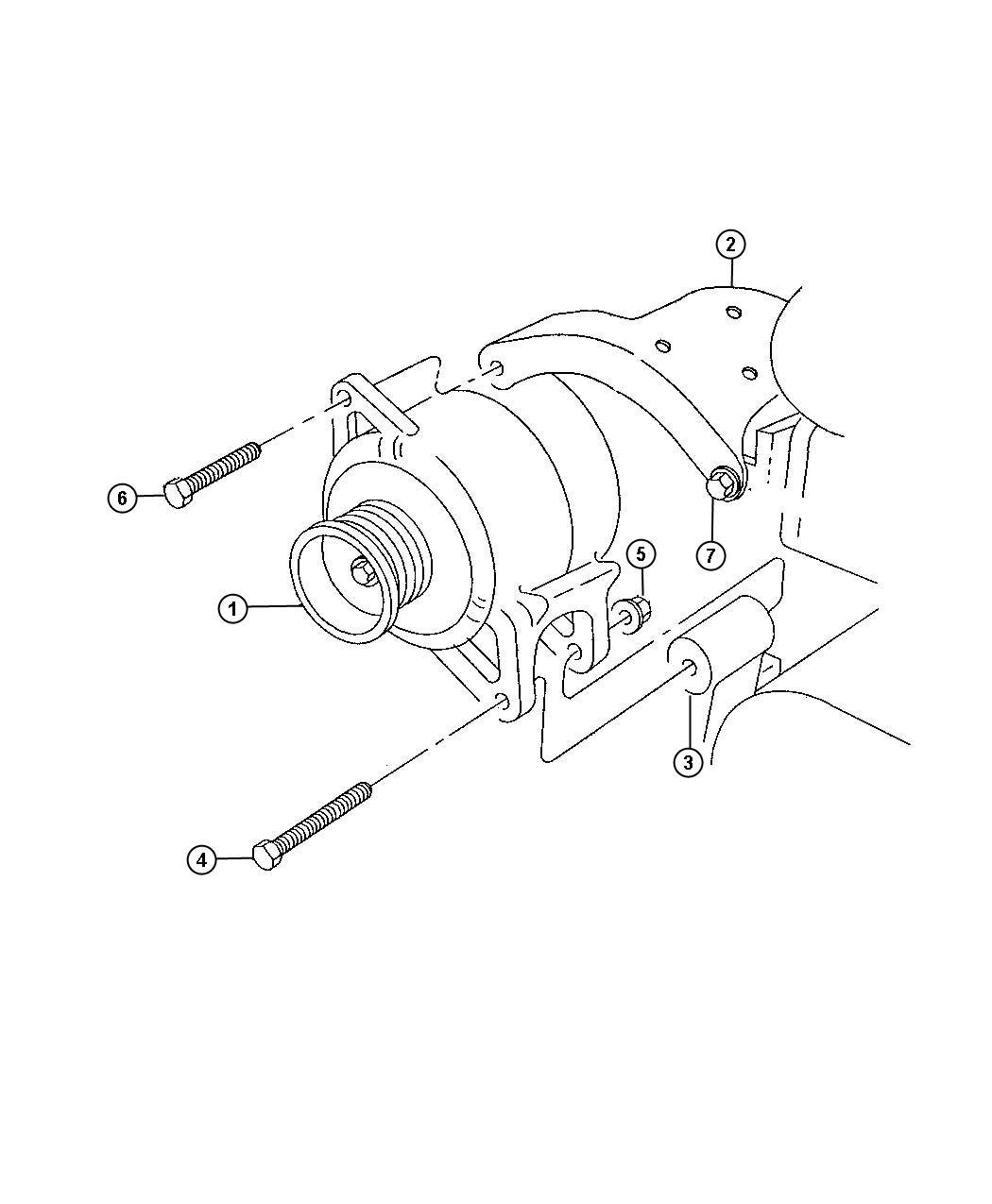 dodge ram 3500 bracket  alternator  support