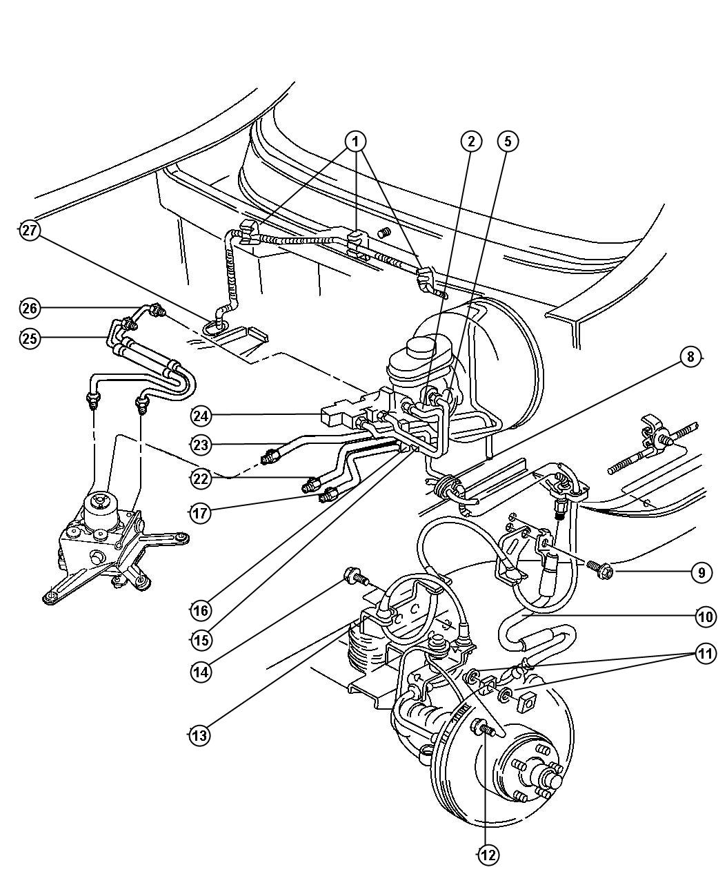 Jeep Cherokee Replacement Brake Lines : Chrysler parts diagrams auto wiring diagram