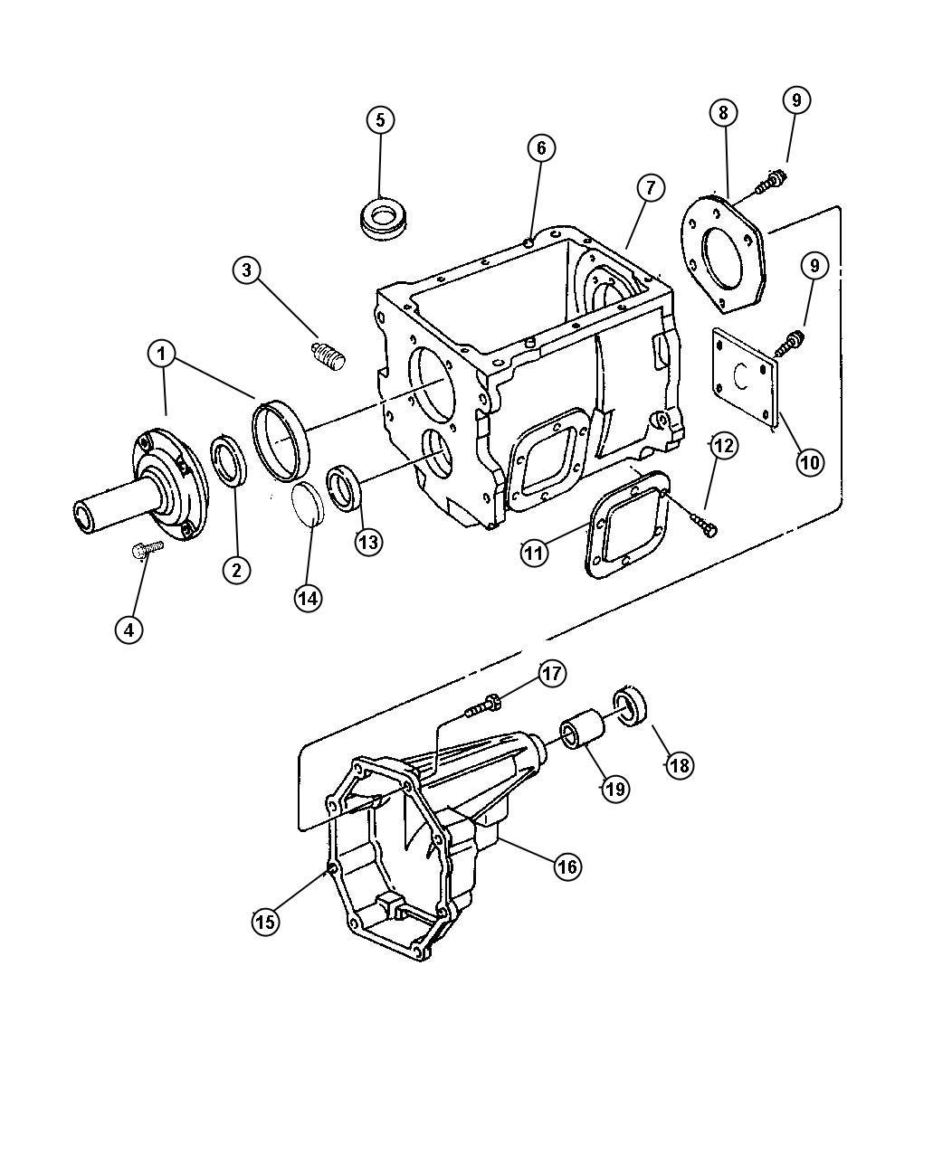 1998 Dodge Ram 3500 Plug  Countershaft  Ddpddx