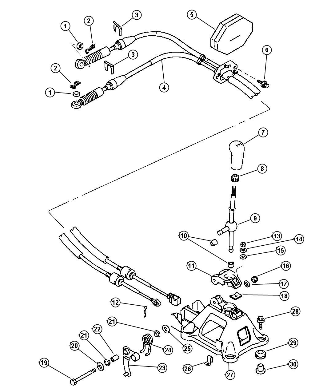Chrysler Sebring Bushing  Gearshift Control Link  Bushing