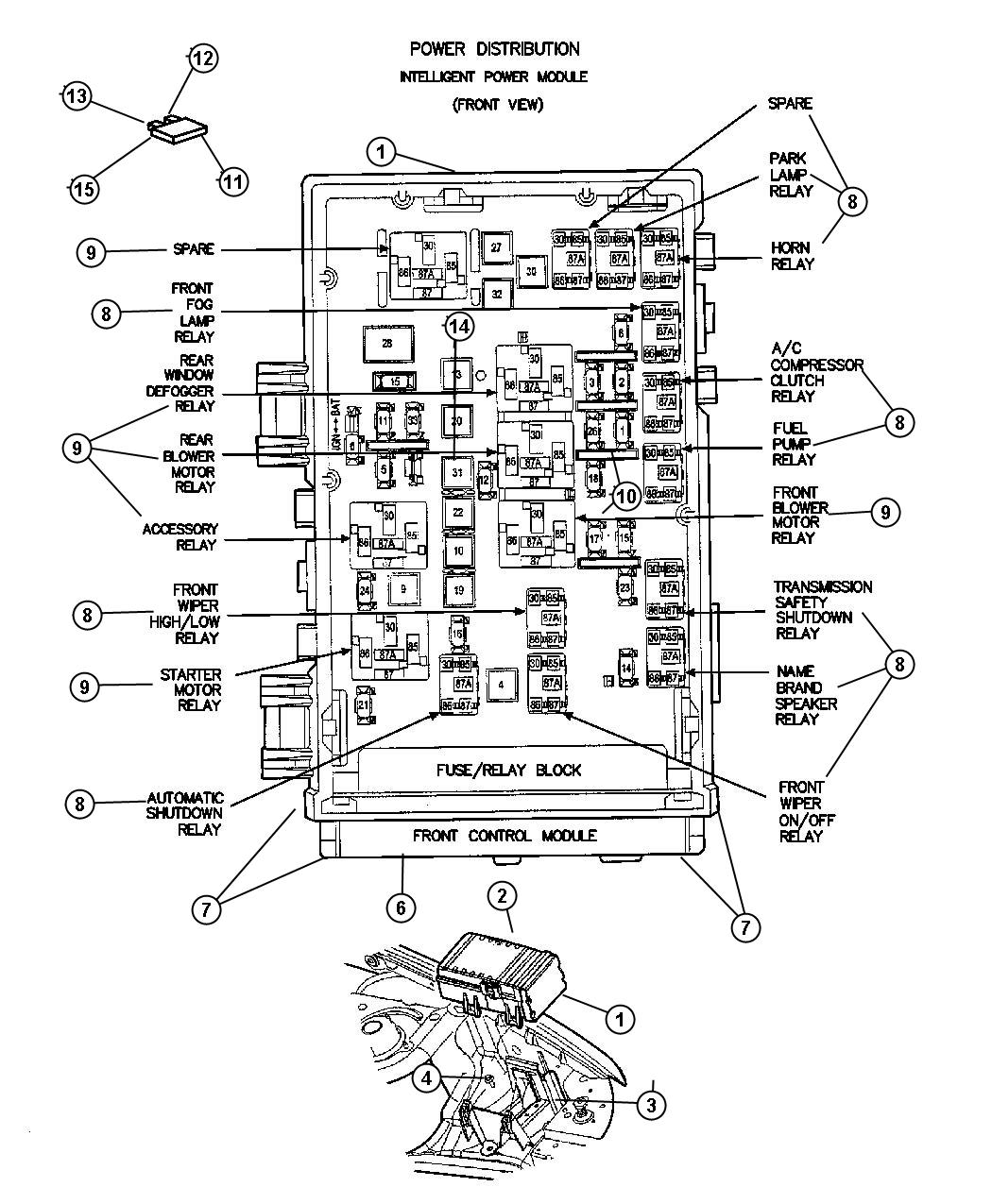 2001 chrysler voyager fuse box diagram  2001  get free