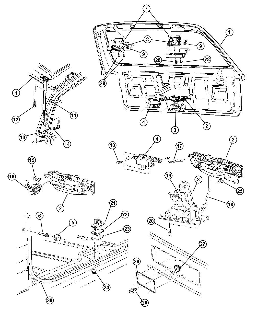 1999 Jeep Grand Cherokee Rear Door Parts Diagram Search For Wiring Liftgate Auto 2001 2008