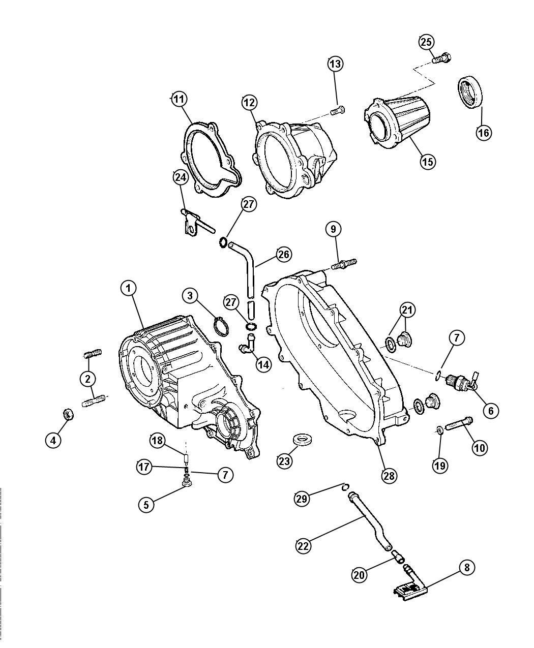 Dodge Ram 1500 Gasket  Transfer Case  52105021  52105021ab