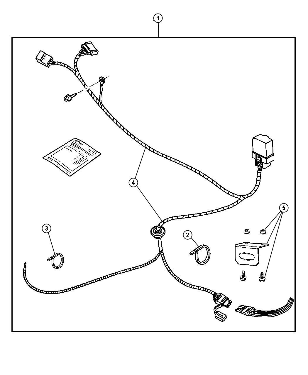 chrysler wire diagram tow package
