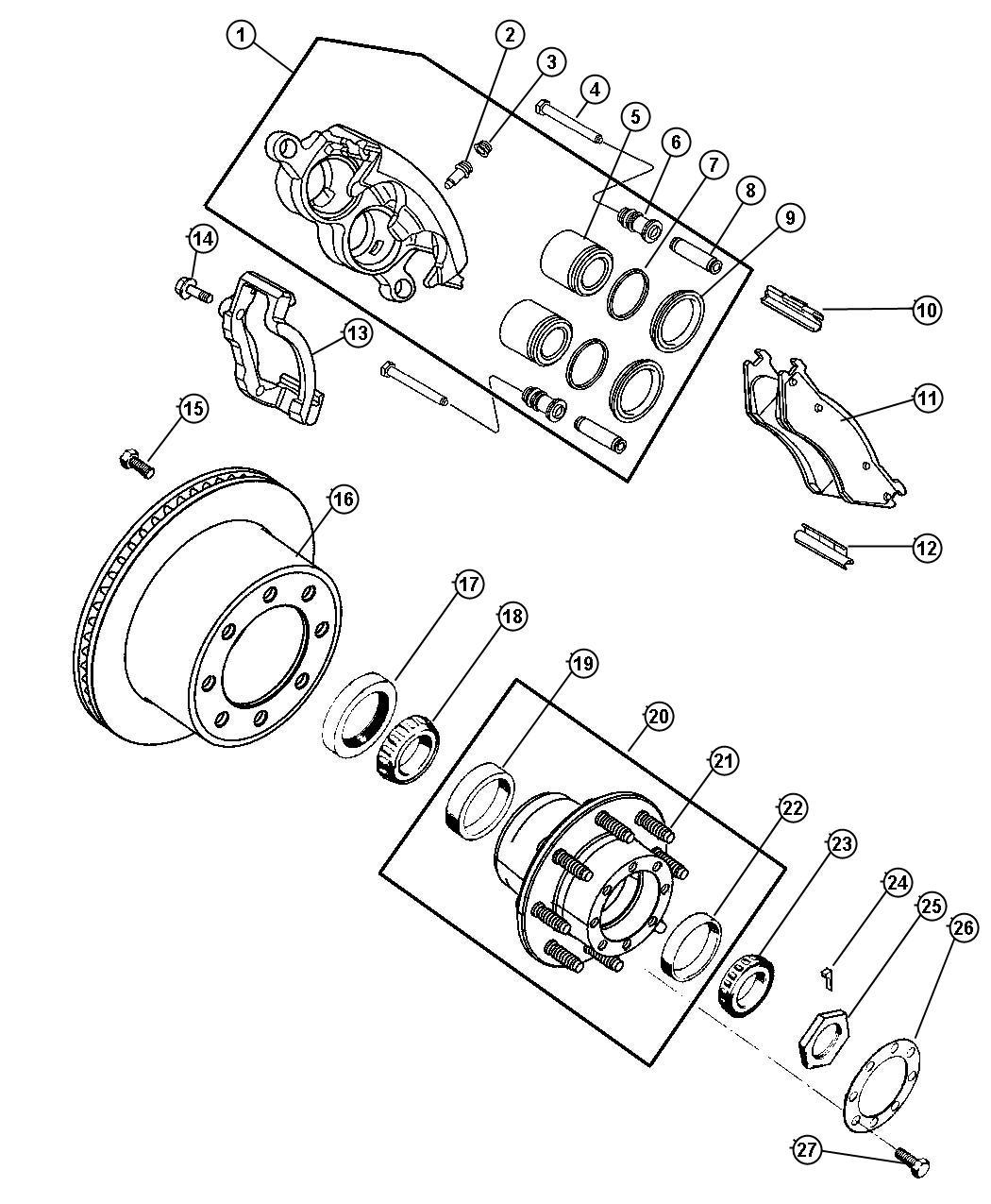 dodge ram 2500 ke caliper parts diagram  dodge  auto