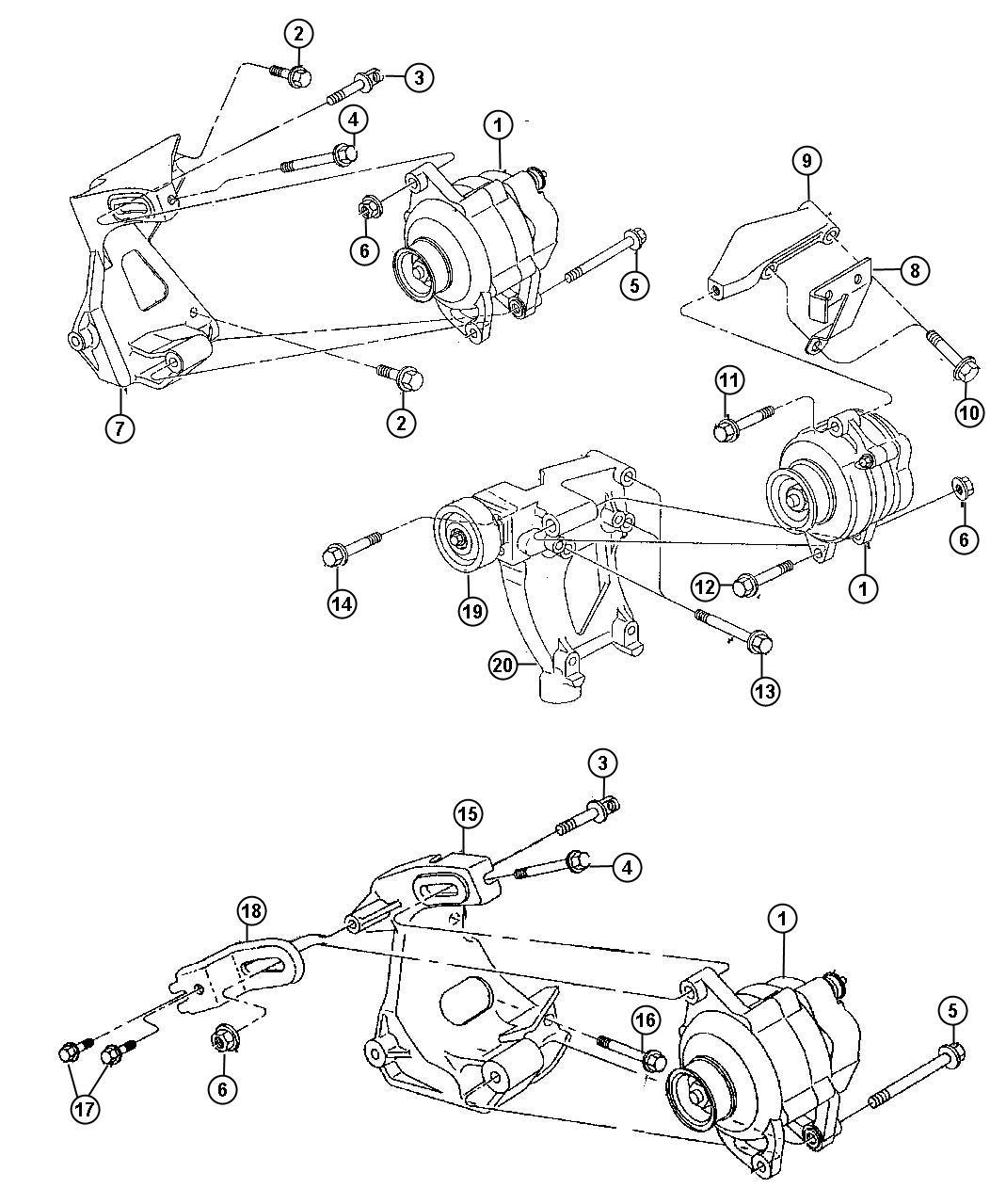 Alternator components diagram free engine
