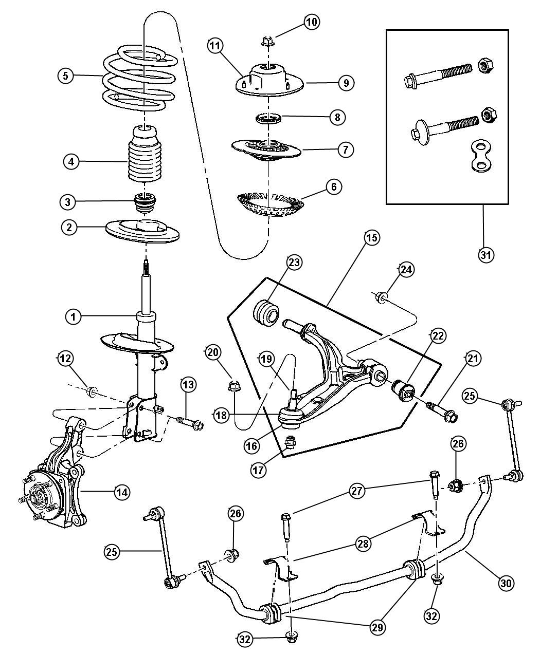 buick suspension diagram