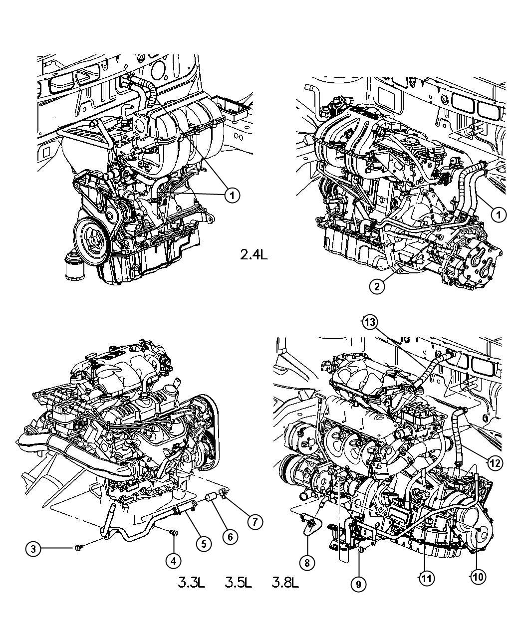 55055694ab  8  Water Pump  With Oil Cooler