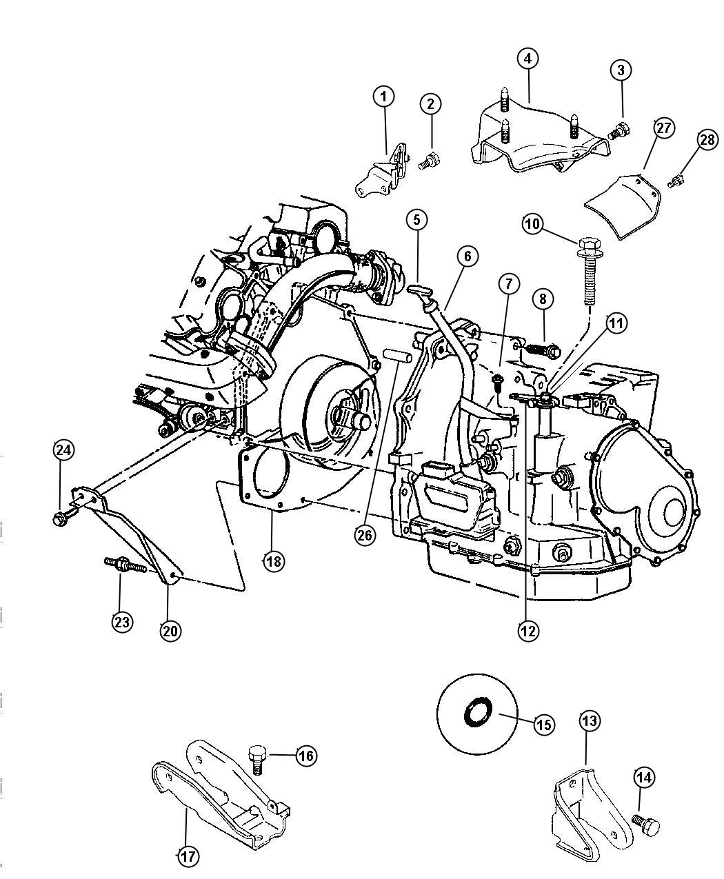 a606 transmission diagram