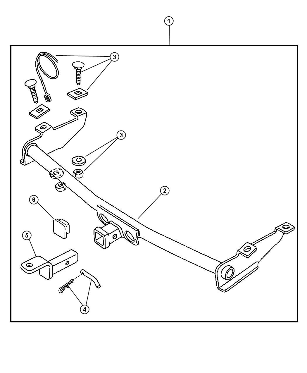 Receiver Kit - Trailer Tow. Diagram