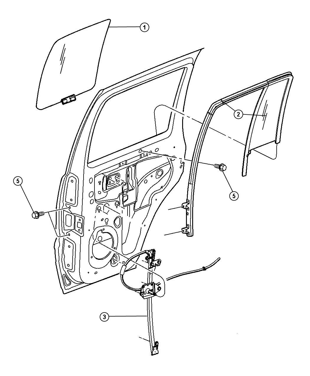 door rear glass and regulator for 2002 jeep liberty. Cars Review. Best American Auto & Cars Review