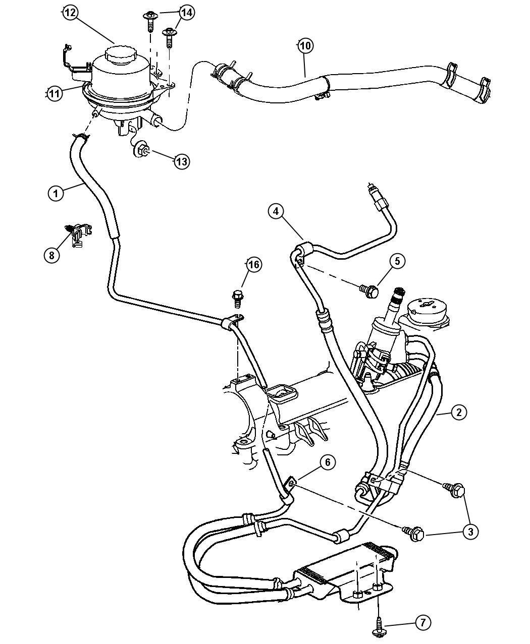 2006 Dodge Grand Caravan Reservoir  Power Steering Fluid