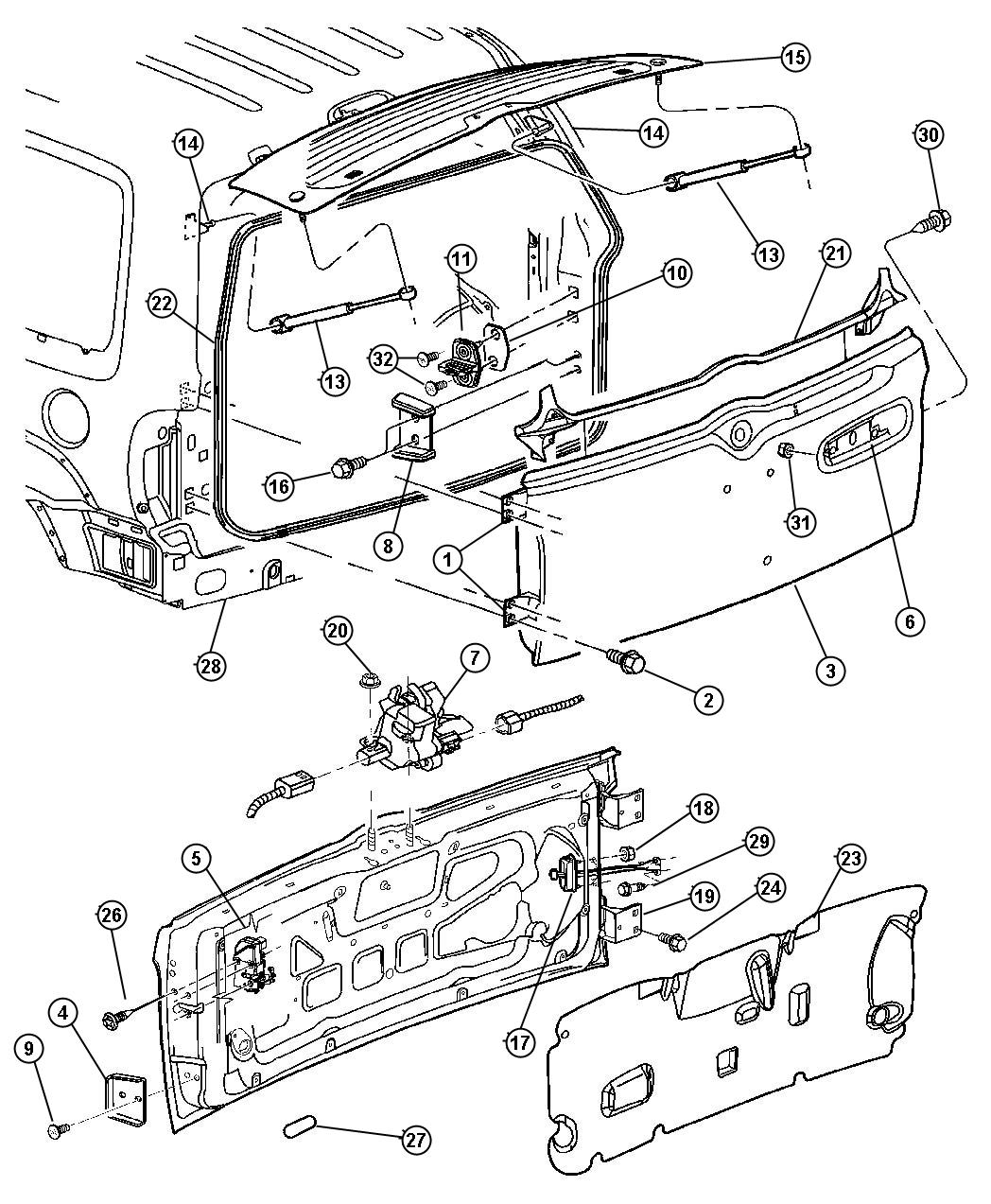 Jeep liberty swing gate latch and hinges