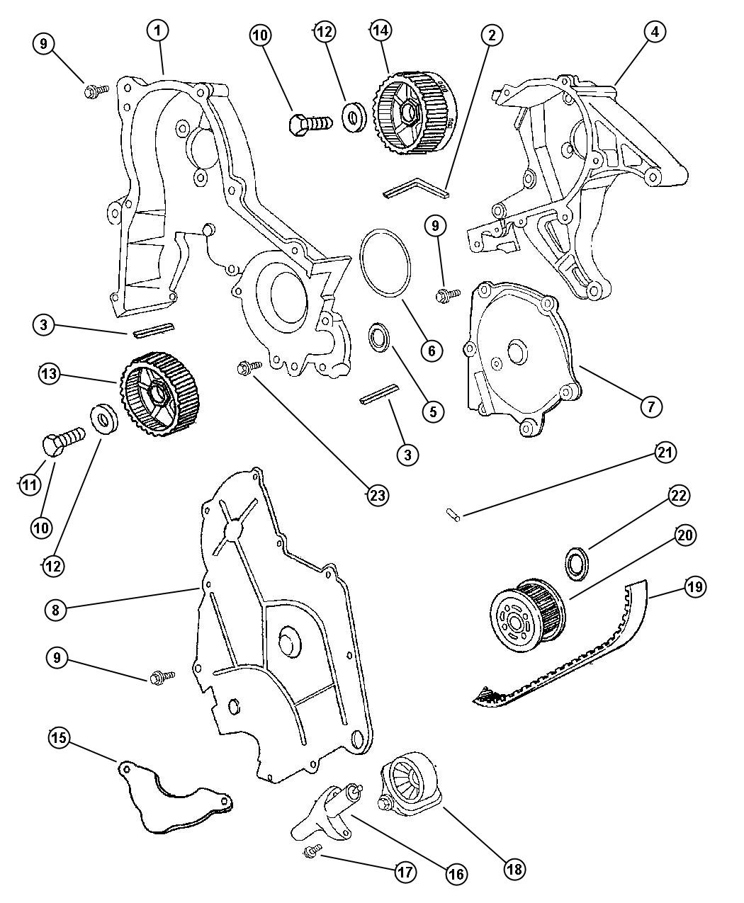 service manual  2000 chrysler lhs timing belt change