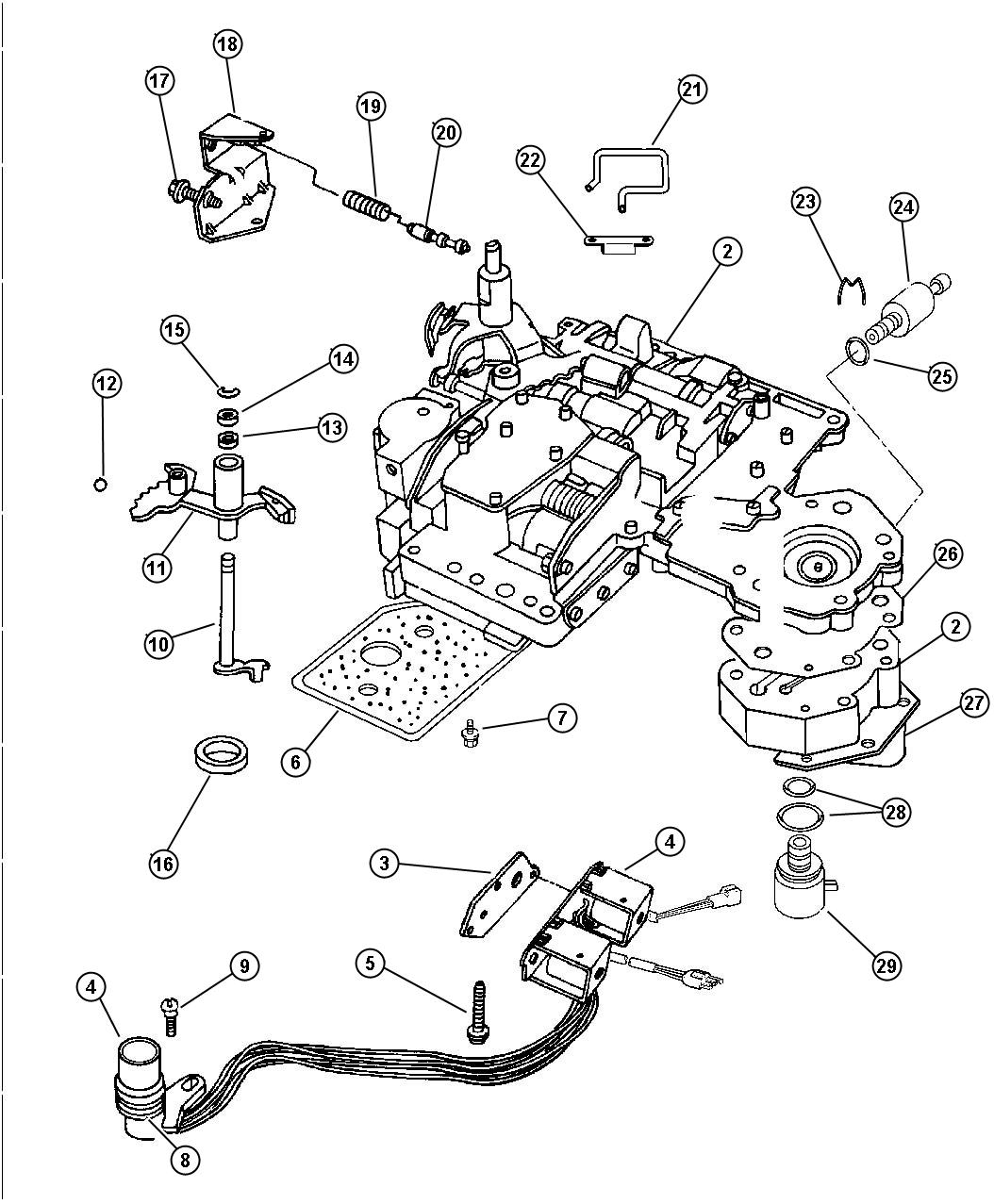 Dodge Dakota Lever  Valve Body Assembly  Manual Valve