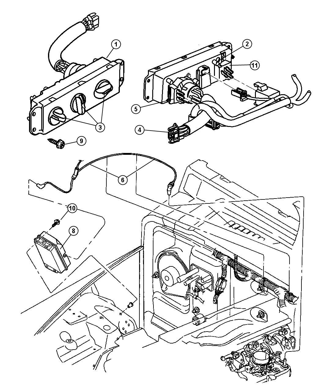 control heater and a c fits jeep wrangler 2002. Cars Review. Best American Auto & Cars Review