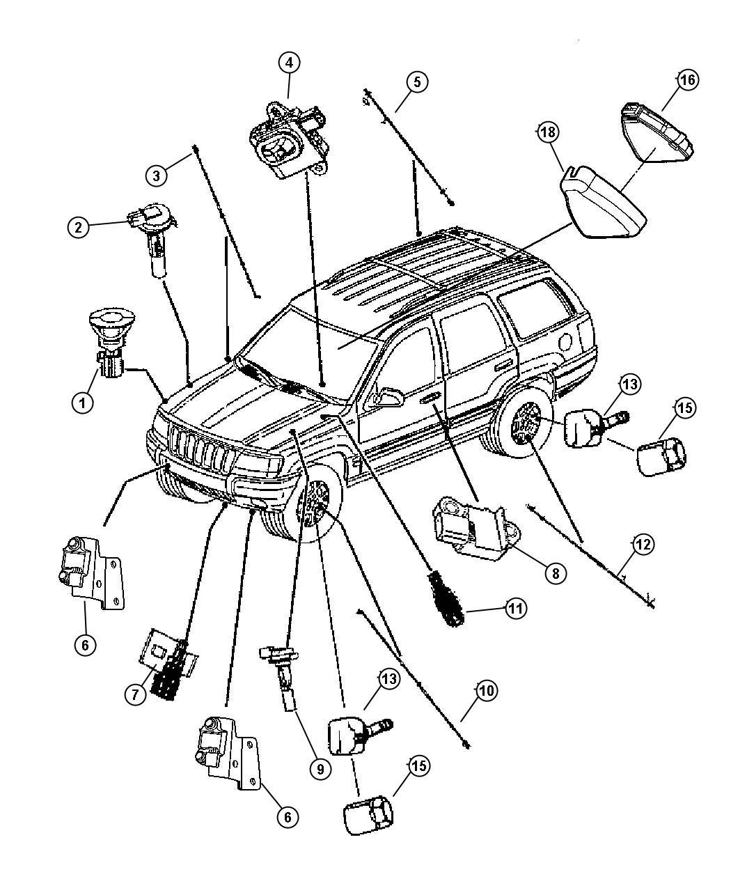 ShowAssembly on Jeep Cherokee Battery Temperature Sensor