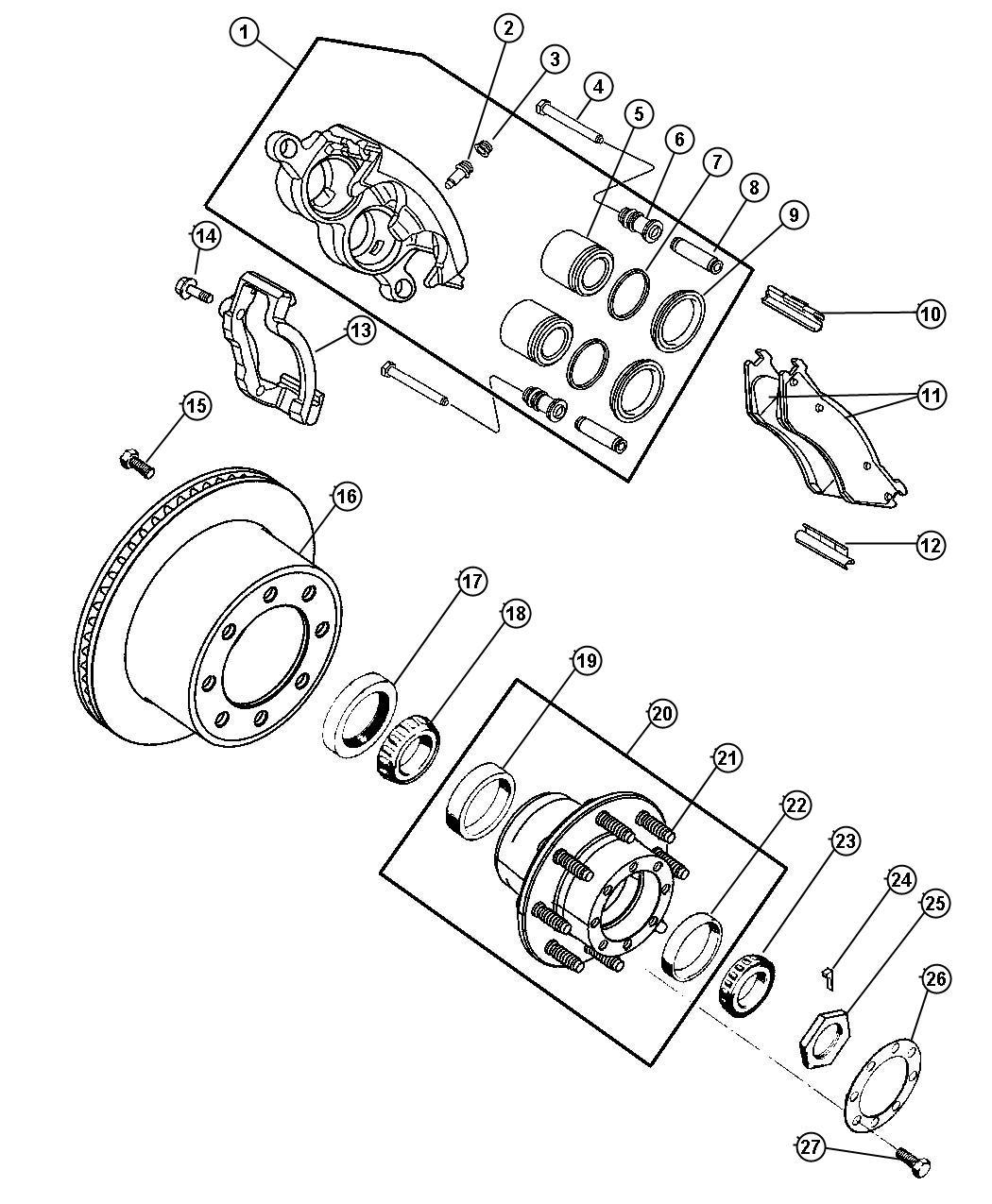 Oem dodge ram 3500 brakes parts online factory chrysler for Factory motor parts portland