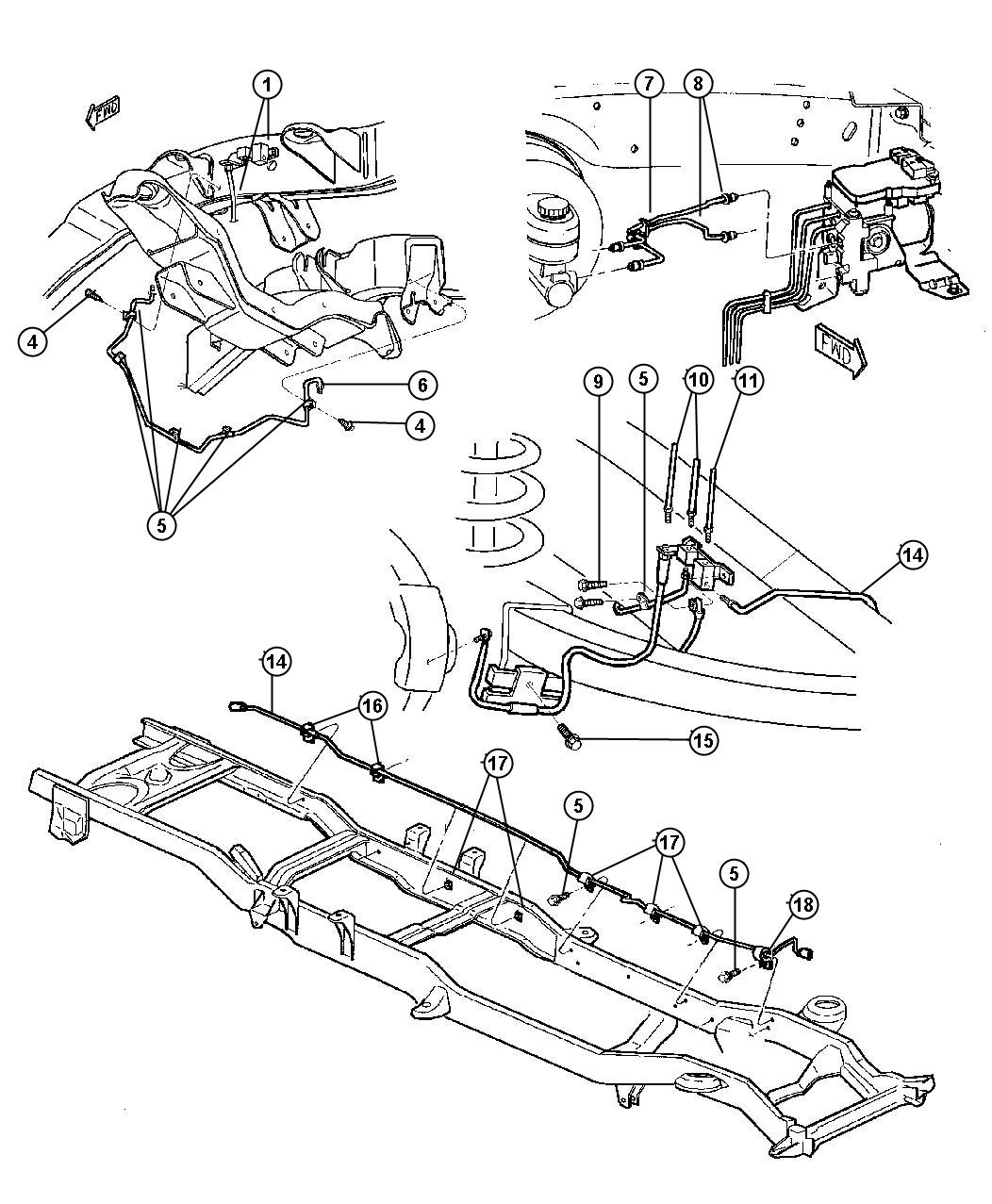 dodge dakota 4x4 frame diagram