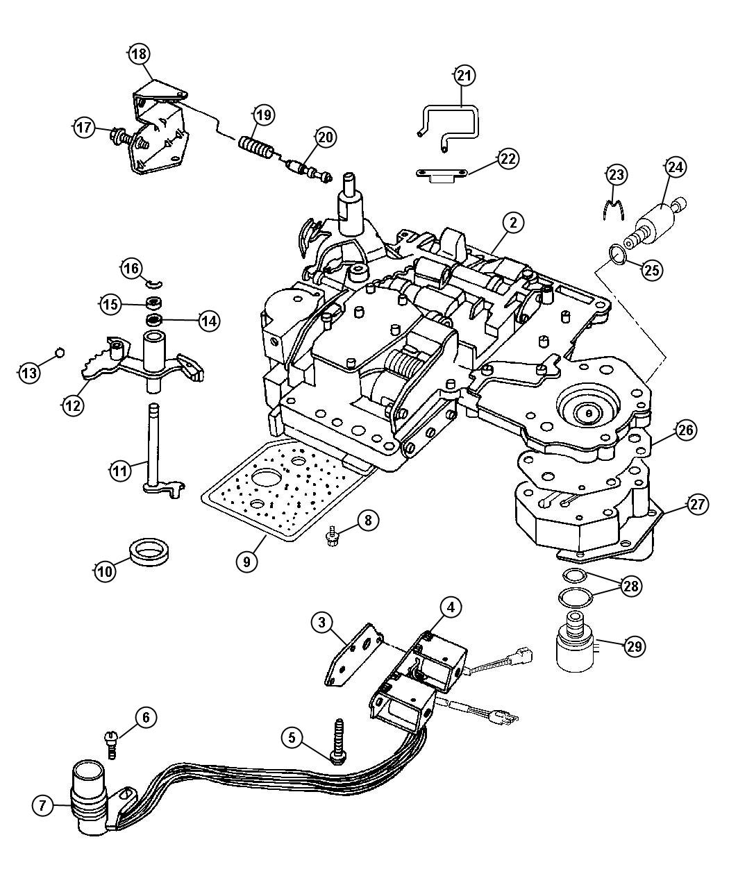 dodge 727 transmission exploded view