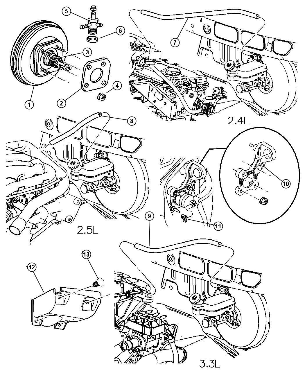 dodge ram 2500 clip  brake booster push rod  brake pedal booster push rod  master