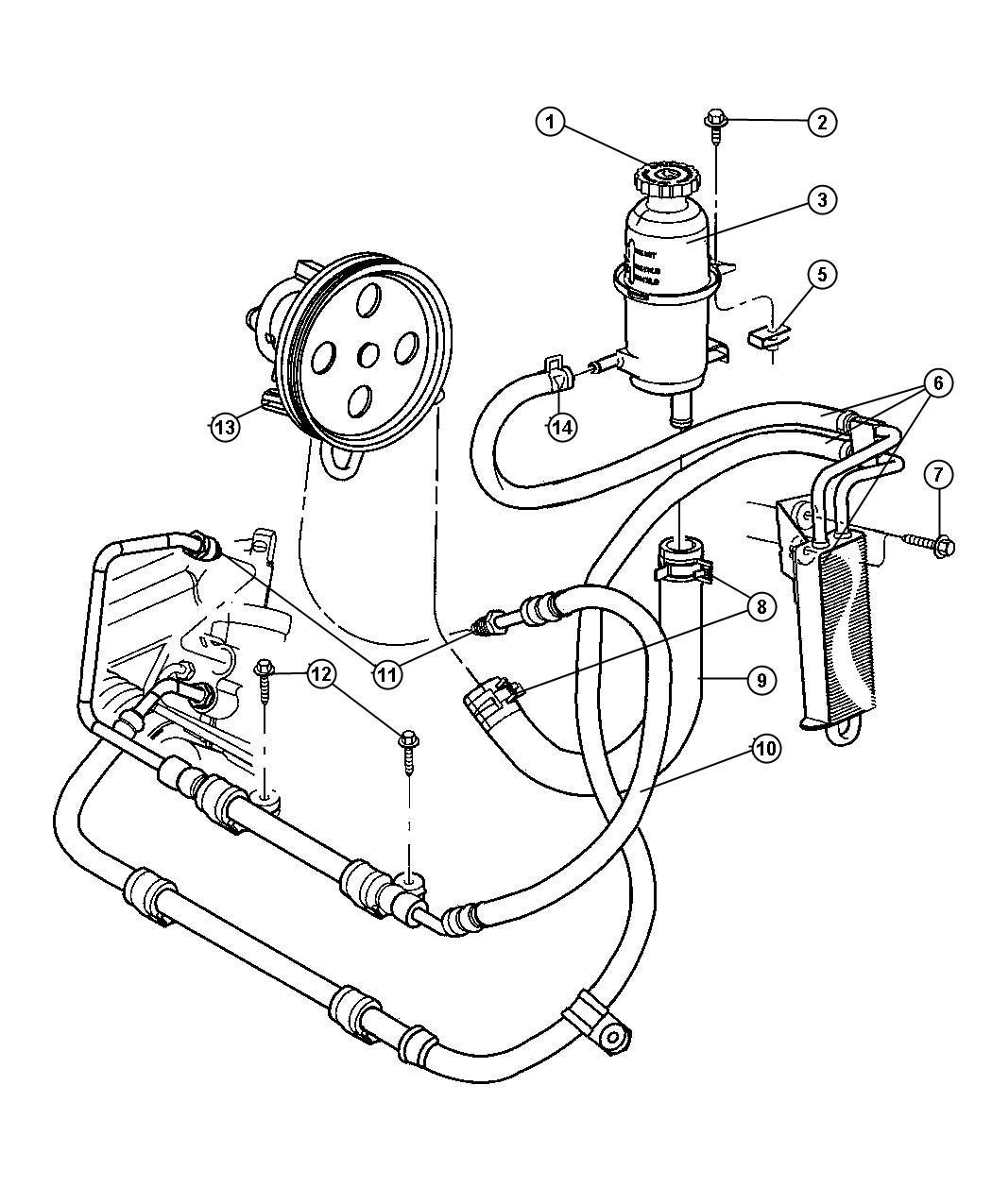 2007 Jeep Patriot Cap  Power Steering Reservoir   Steering